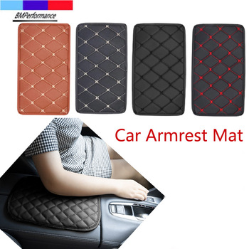 PU Leather Car Armrest Mat Box Cover Protector Pad For Bmw X5 E70 X6 E71 E72 G20 G30 G31 G38 G15 G32 G11 G12 G01 G02 G05 G06 image