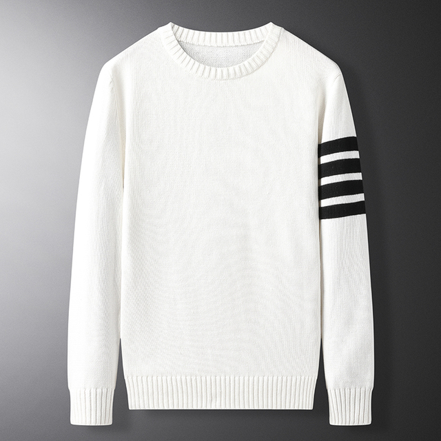 New Sweater Men Cotton Soft Winter Warm Knit Solid Color Clothes O-neck Pullover Tops Males Brand Clothing M-3XL sueter hombre 1
