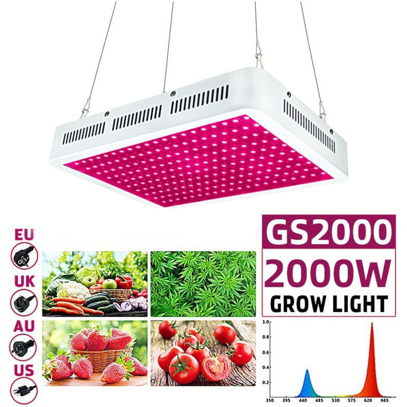 2000W Led Grow Light 4x4 Coverage Full Spectrum Grow Lamps For Indoor Plants Veg Bloom With Updated LED Rectangle Veg Flower