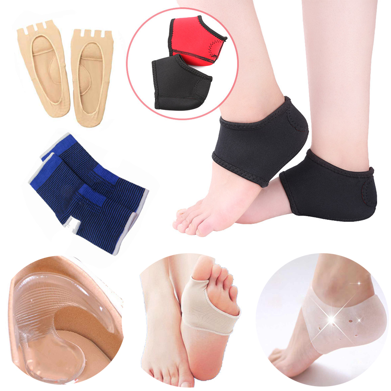 Silicone Insoles Gel Socks Pedicure Foot Tools Anti Cracked Heel Moisturizing Socks Shoes Insoles Cushion Pads Valgus Corrector