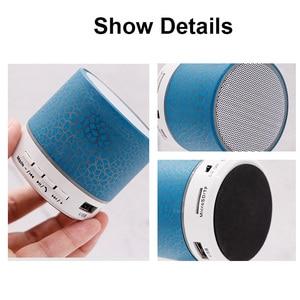 Image 4 - بلوتوث صغير المتكلم اللاسلكية عمودي مكبر الصوت LED مضخم صوت ستيريو TF بطاقة USB Mp3 الصوت مشغل موسيقى