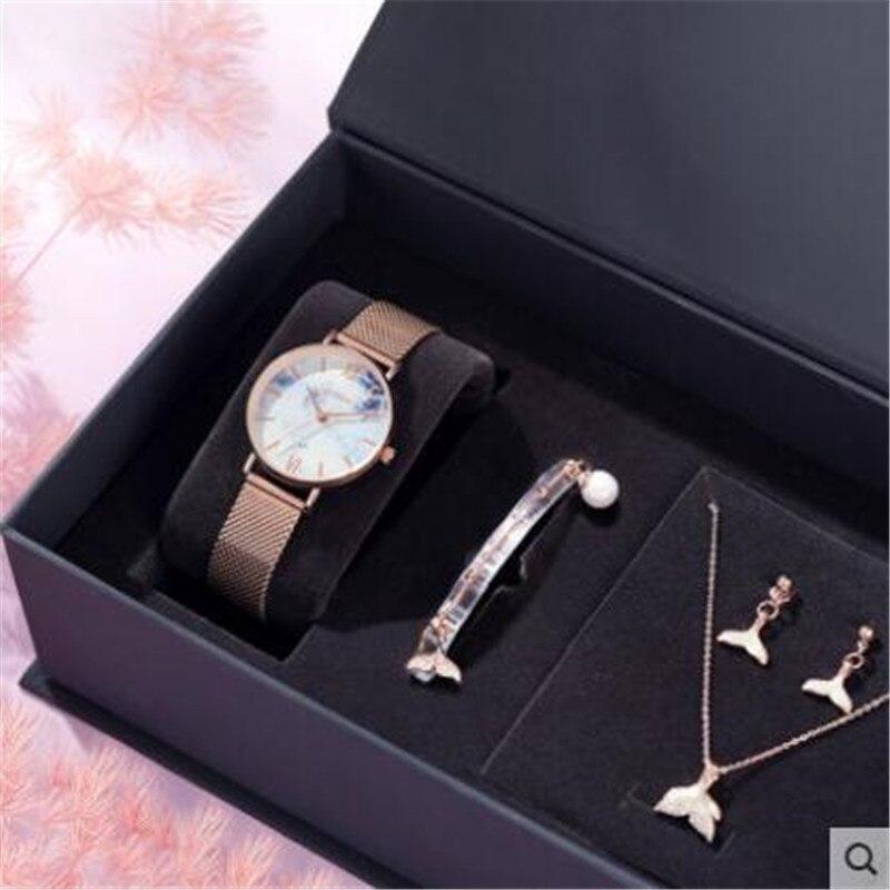Женские часы ins стиль простой темперамент студентов Sen Department art небольшой свежий стиль кварцевые часы браслет ожерелье