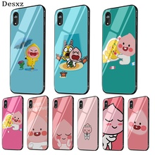 Cocoa Friends Peach Tempered Glass phone case For i