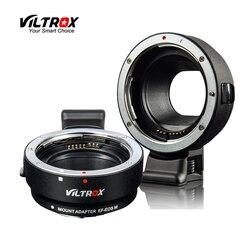 Viltrox EF EOSM elektronicznych obiektyw z automatyczną regulacją ostrości adapter do canona EOS EF EF S obiektywu  aby EOS M EF M M2 M3 M5 M6 M10 M50 M100 kamery w Adaptery obiektywu od Elektronika użytkowa na