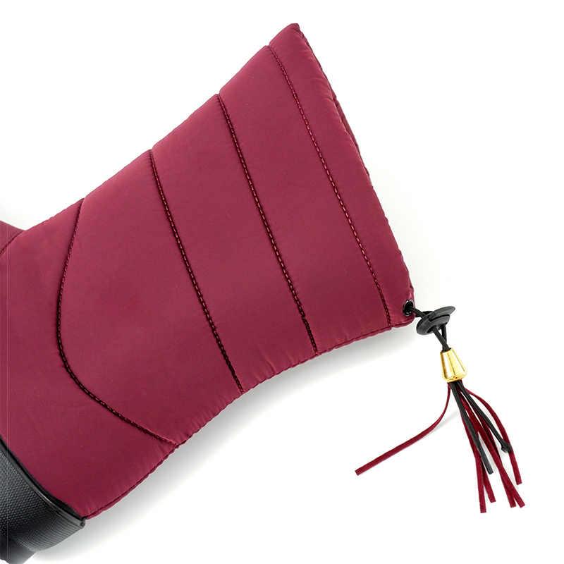 Giày Bốt nữ 2019 Người Phụ Nữ Lông Ấm Áp Mùa Đông Giày Nữ Mùa Đông Giày Chống Nước Ấm Giữa Bắp Chân Ủng Botas Mujer giày Nữ