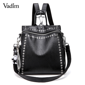Vadim 2019 New Women Leather Backpack Ri