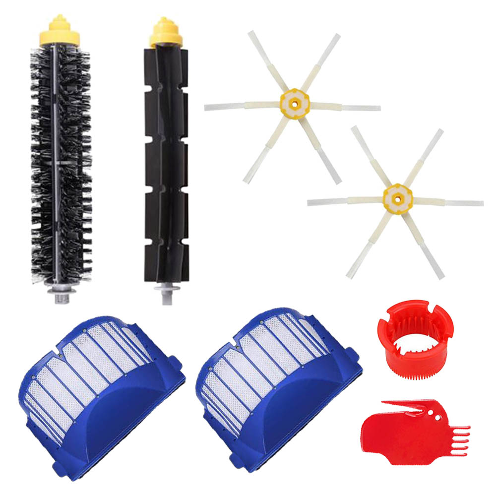 Replacement Kits Brushes/Hepa Filters For IRobot Roomba 600 Series 610 620 630 650 660 Vacuum Cleaner Parts Accessories