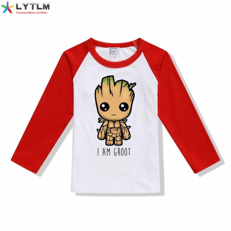 تي شيرت من LYTLM I Am Groot تي شيرت مارفل تي شيرت للأطفال الصغار بأكمام طويلة ملابس شتوية تي شيرت صغير أولادي كبير خريف ملابس رجالية