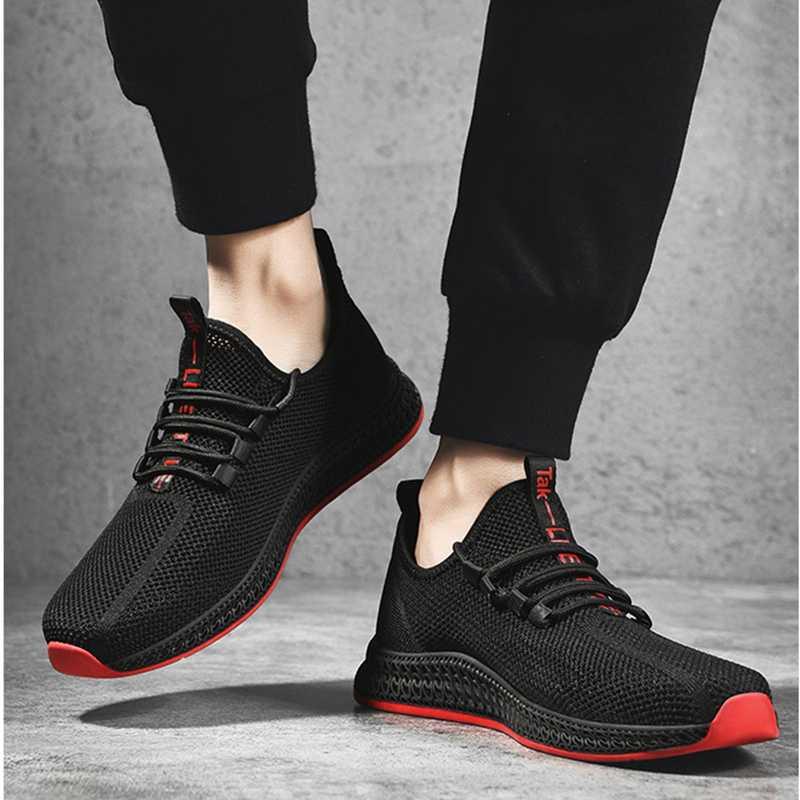 Litthing Schuhe Männer Turnschuhe Atmungsaktiv Casual Keine-slip Männer Vulkanisieren Schuhe Männlichen Air Mesh Spitze up Tragen-beständig schuhe masculino