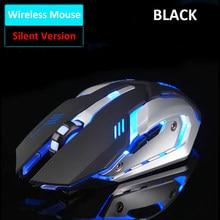 Wiederaufladbare X7 Wireless Gaming Maus LED Hintergrundbeleuchtung USB Optische Ergonomische Maus 2400DPI Mode Computer Spiel Mäuse Für Pro Gamer