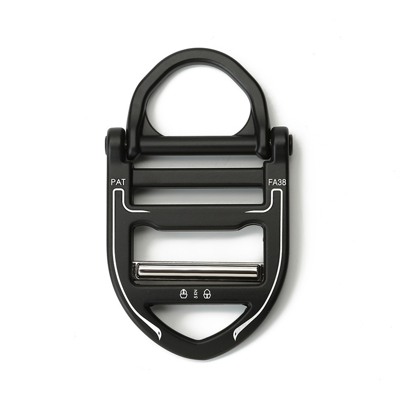 39mm Men's Outdoor Fast Release Button, Tactical Button Black Metal Canvas Belt Button