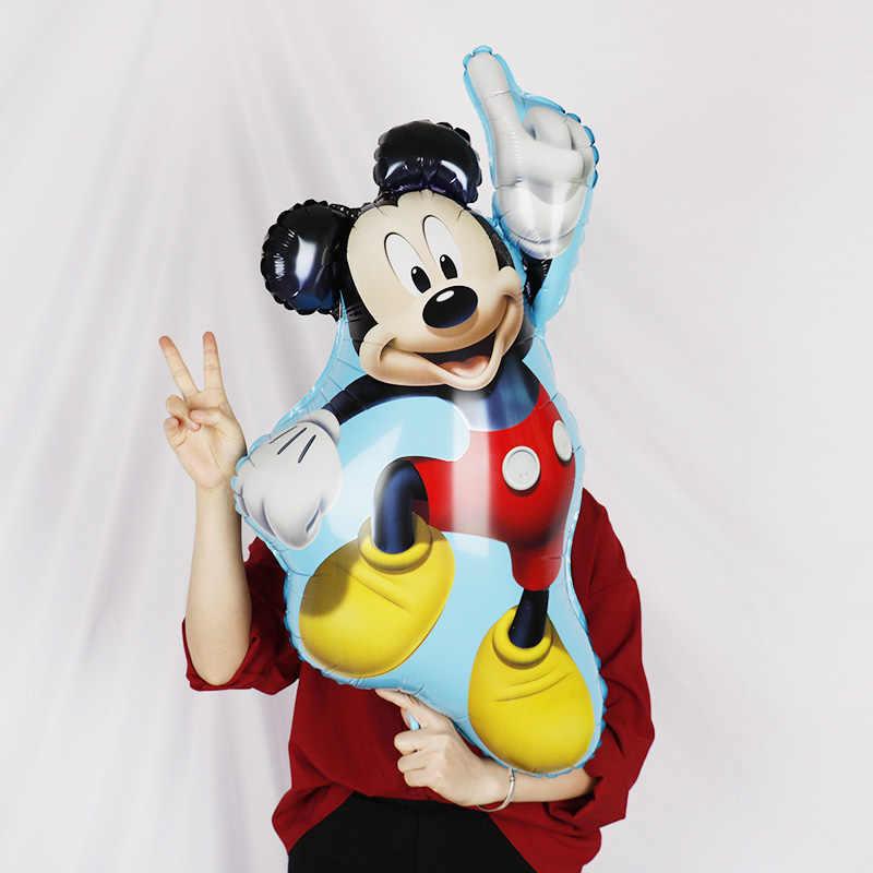 Globo de 112cm gigante Mickey Minnie Mouse globo de dibujos animados en papel aluminio globo de fiesta de cumpleaños niños decoraciones para fiesta de cumpleaños regalo para niños