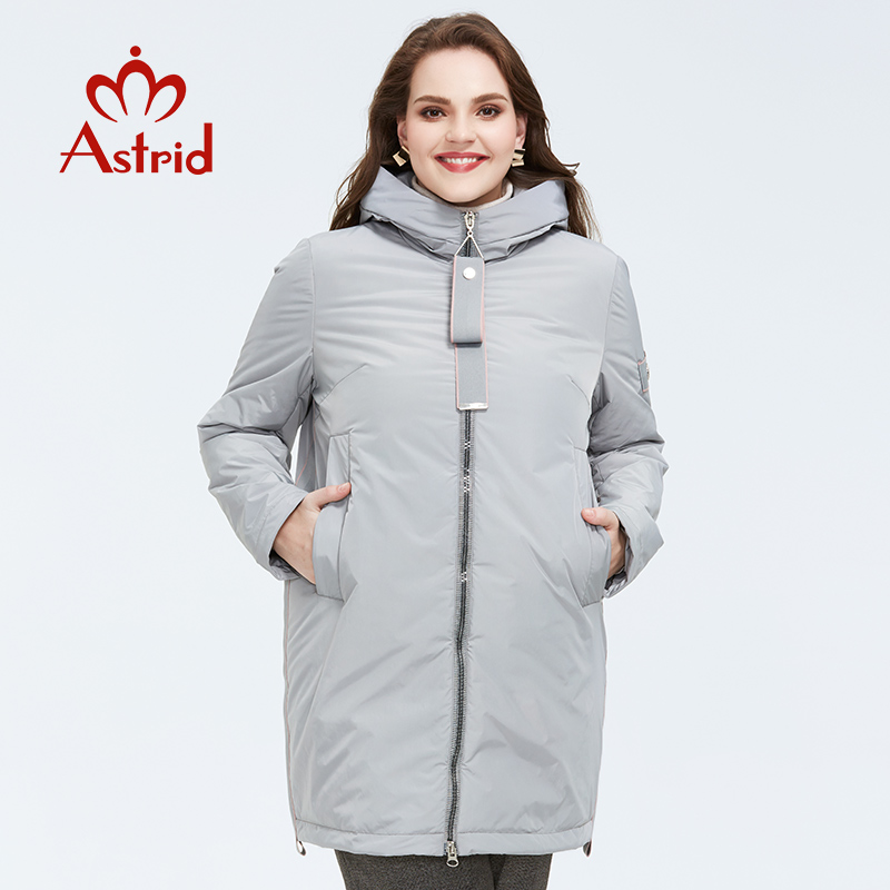 Astrid 2020 Spring New Arrival Women Jacket Outerwear High Quality Plus Size Mid-length Style With Zipper Women Fashion  AM-8608