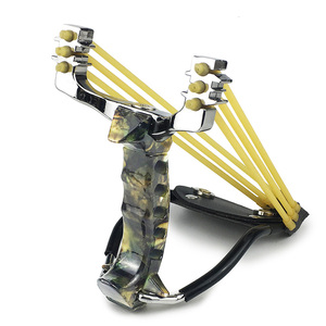 Image 1 - Slingshot Powerful Hunting With 3 Rubber Band Tubing Catapult Professional Tactical Pocket Target Sling Shot Outdoor Bow