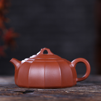 Yixing recommended undressed ore chlorite dahongpao ling flower pot capacity of 250 ml new tea set