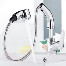 Single Hole Handle Mixer Tap Kitchen Faucet chrome Single Handle Pull Out Kitchen Tap Basin faucet Swivel 360 Degree Water Mixer chrome polished kitchen sink mixer tap two spouts single handle one hole kitchen faucet