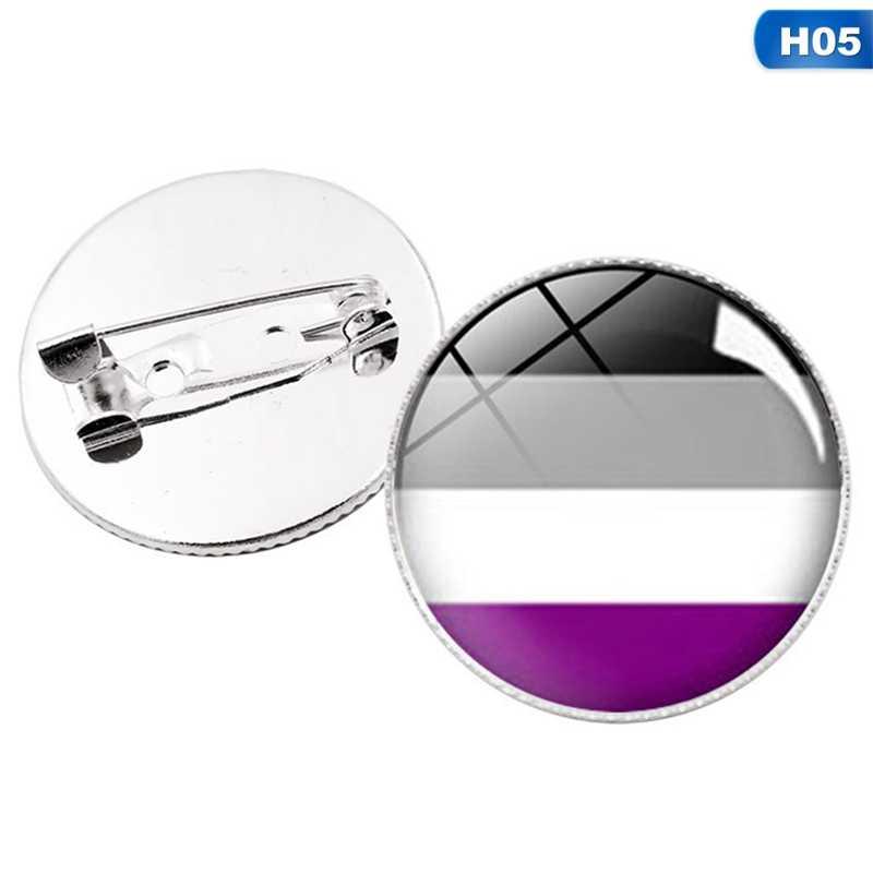 LGBT Pride Regenboog Vlag Badge Ronde Pictogrammen Gay Lesbische Biseksueel Transgender Pansexual Aseksuele Symbool Pin Rozet Broche