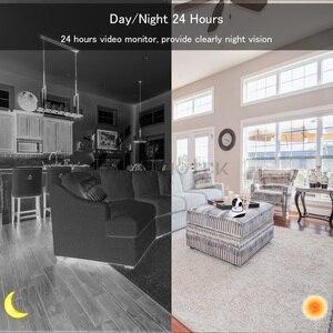 Image 5 - 720P 1080P IP 카메라 와이파이 나이트 비전 비디오 감시 카메라 홈 보안 플러그 앤 플레이 PTZ 자동 추적 IP 카메라 와이파이 IR