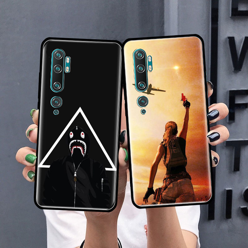 Battlegrounds PUBG Case For Xiaomi Mi Note 10 9 CC9 9T Pro 5G CC9E 8 A3 A2 Lite X2 F1 Black Soft Bags Phone Cover
