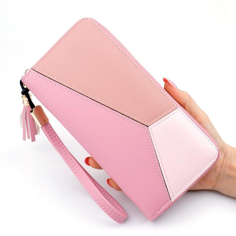 2019 Leather Women Wallet Tassel Long Wallets Fashion Wallet Female Girls Phone Pocket Purse Card Holder Long Clutch Coin Purse