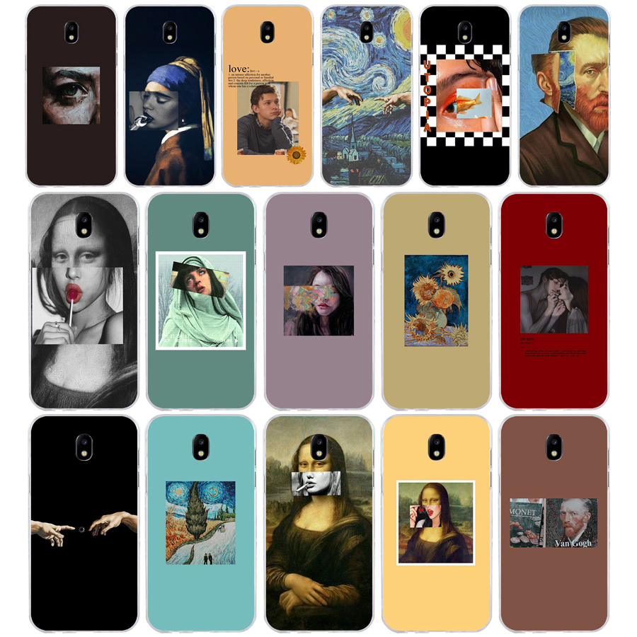332Great art aesthetic van Gogh Mona Lisa Soft Silicone Tpu Cover phone Case for Samsung j3 j5 j7 2016 2017 j330 j2 j6 Plus 2018 image