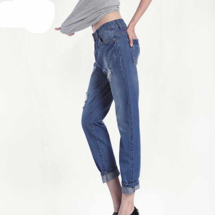 Mama Jeans De Cintura Alta Vintage Rasgado Desgastado Pantalones De Mezclilla Para Mujeres Chicas Adolescentes Moda Suelta Pantalones Para Novio De Talla Grande Pantalones Vaqueros Aliexpress