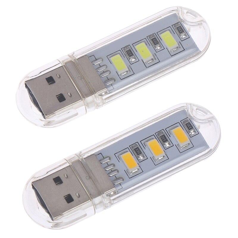 2pcs/lot Mini USB LED Book Lamps Camping Lamp For PC Laptops Computer Night Light