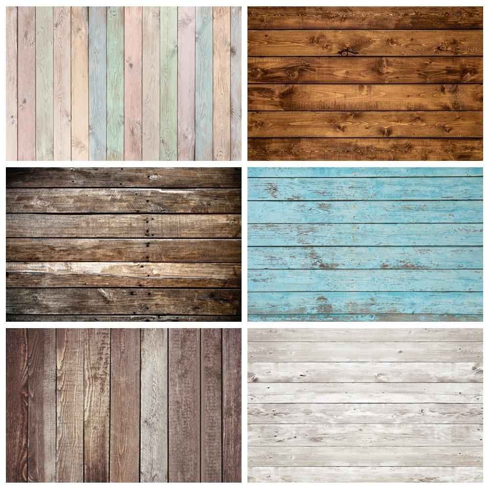 Flower Wood Board Floor Plank Wooden Newborn Baby Shower Birthday Backdrop Photography Background Photophone Photozone