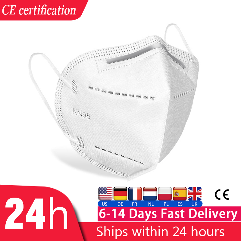 5/10/20/50 Pcs KN95 CE Certification Mask Respirator N95 FFP2 Mouth Mask Dustproof Anti-fog And Breathable Face Masks KF94 FFP3