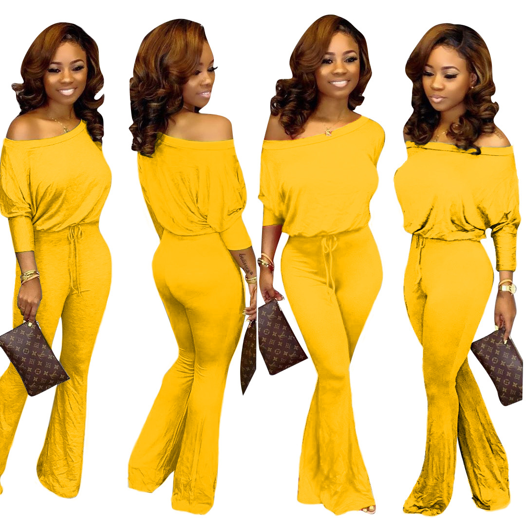 2019 New Hot Fashion Temperament Casual Europe And America Women's Solid Color Word Collar Bat Sleeve Suit