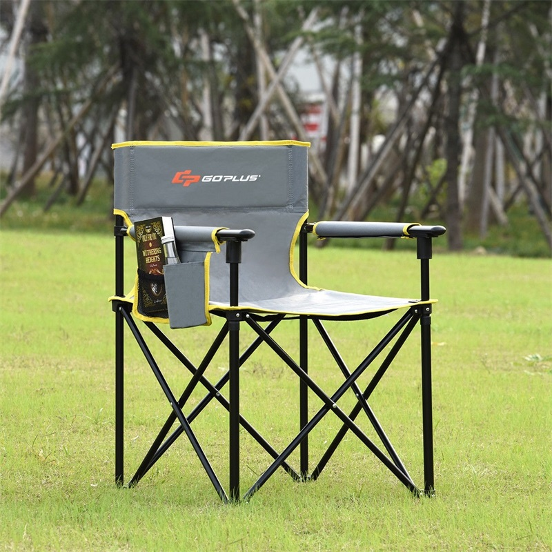 Outdoor Beach Chair Portable Folding Fishing Camping Chair With Detachable Armrests Breathable PE Coated Oxford Cloth OP3682