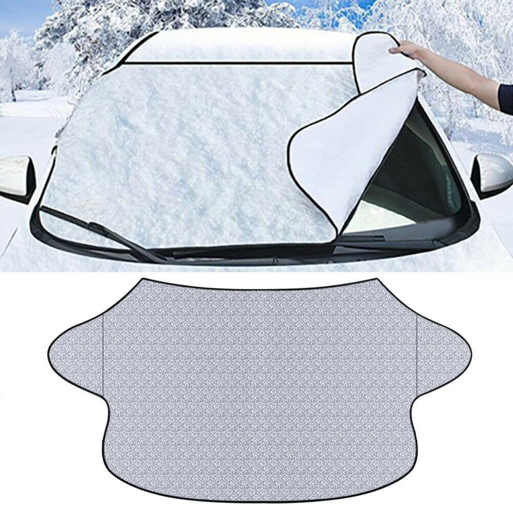 Car Cover Magnetic Windshield Cover Thicker Sun Shade Protection Cover Sun Blocker All Weather Winter Summer SUV Universal
