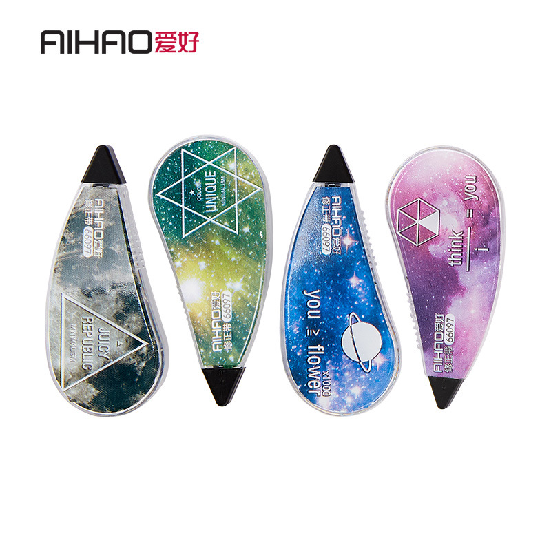 Aihao Stationery 66097 Star Correction Tape Corretion Pen/fluid A Set Of 4 PCs