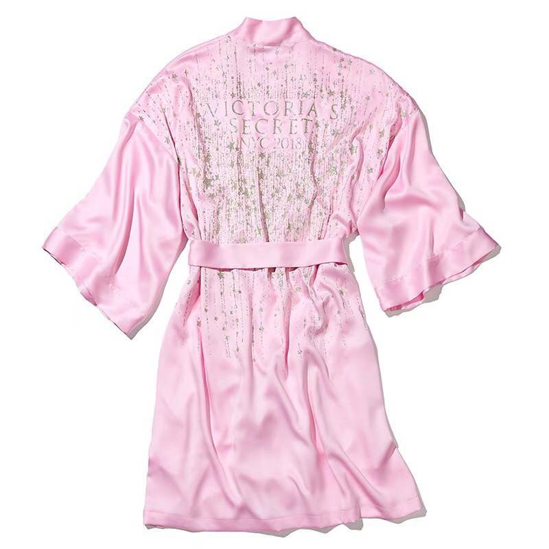 Robes Morning-Gowns Catwalks Satin Silk Victoria's Secret Women's Celebrity-Style Xi title=