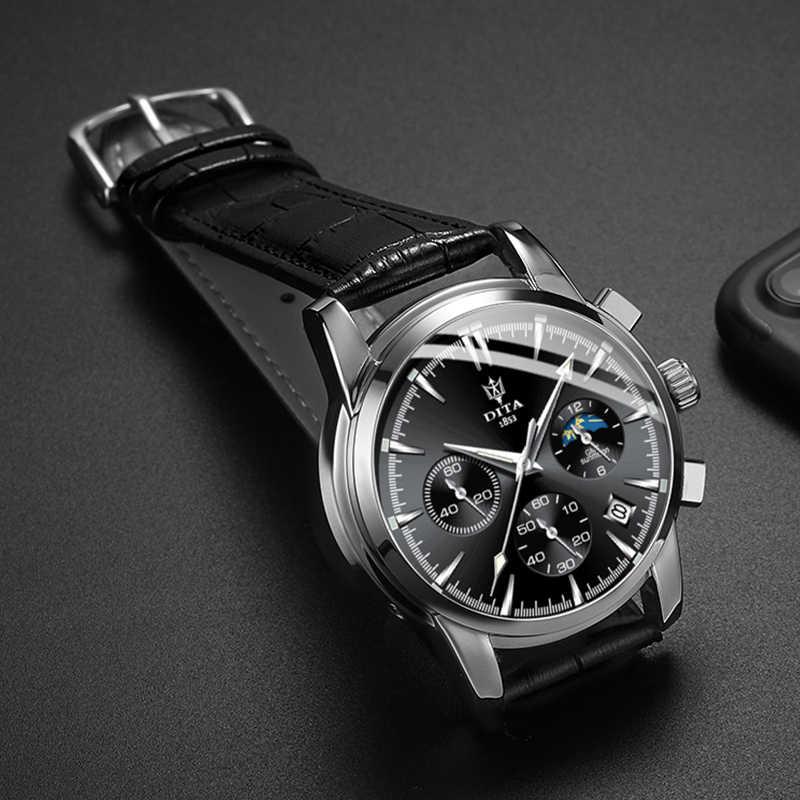 2019 лучший бренд роскошный спортивный хронограф из нержавеющей стали мужские наручные кварцевые часы Relogio Masculino