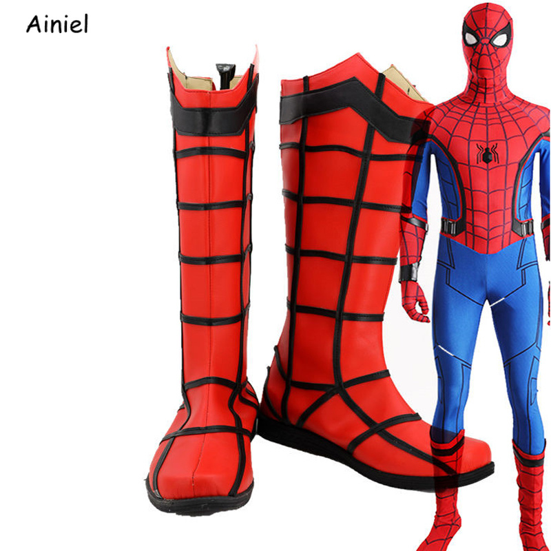 Cosplay Shoes Homecoming-Boots Spider Superman Halloween Iron for Adult 3d-Print