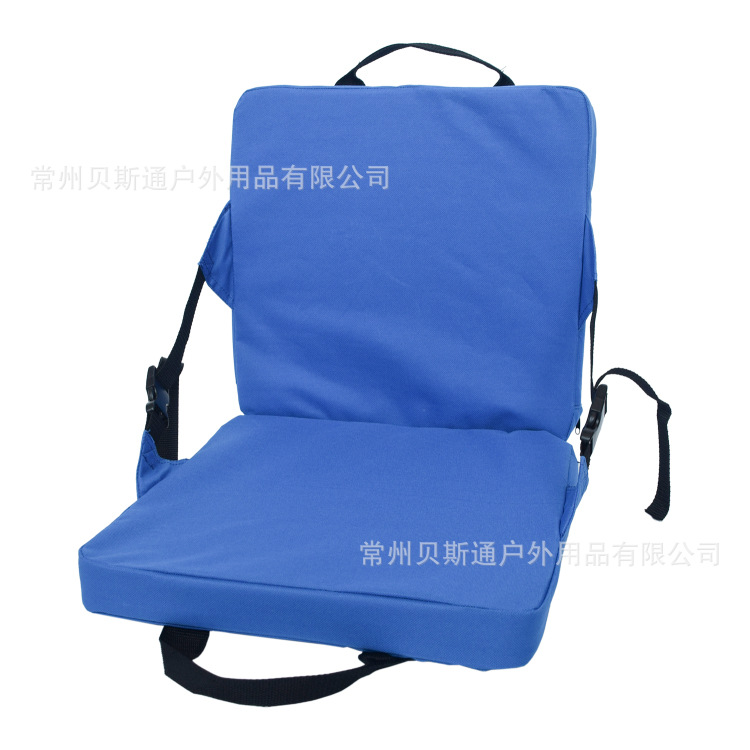 Outdoor Portable Camping Travel Foldable Cushion With Backrest Folding Chair Beach Moisture Proof Pad Padded Cushion