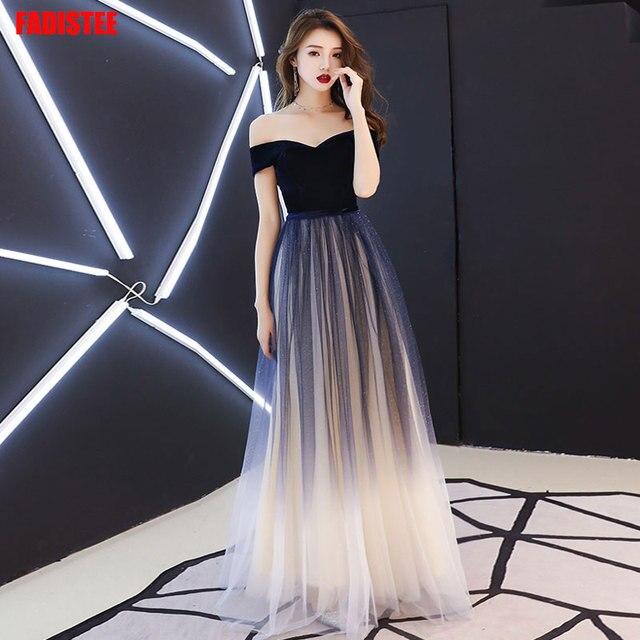 Navy blue elegant Prom party Dresses  Vestido de Festa dress evening long frock robe de mariee robe communion fille robe sequin 1