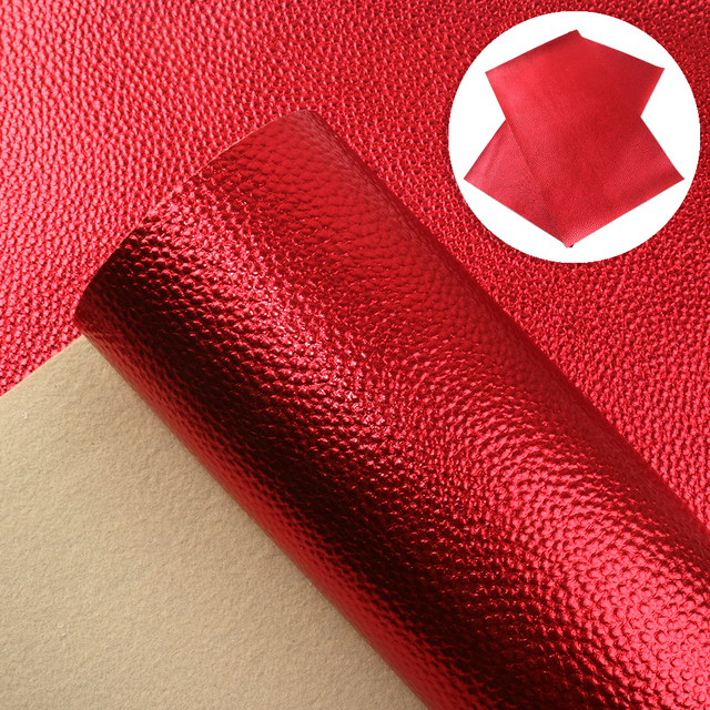 20*34 cm Solid Color LitchiGrain Faux Leather Leatherette Clothing Upholstery