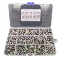 500pcs/Lot M3 M4 M5 Stainless Steel 304 Hexagon Socket Head Cap Socket Screw Bicycle Hex Bolt Nut Screws Set Assortment Kit 2019