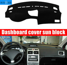 For Peugeot 307 Dashboard Cover Mat Pad Dashmat Dash Sun Shade Car Styling Instrument Carpet Accessories