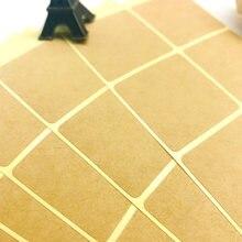 100 шт/лот Новый винтажный квадратный дизайн крафт пустой уплотнительный