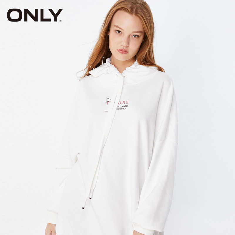 ONLY Winter Womens Mid-length Letter Print Hoodies|11939S567