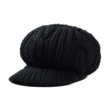 Зимние шапки для женщин козырьки меховая женская шапка женская Шапка-бини для девочек Skullies шапки капот Femme SnapBack теплая вязаная шапка-ведро