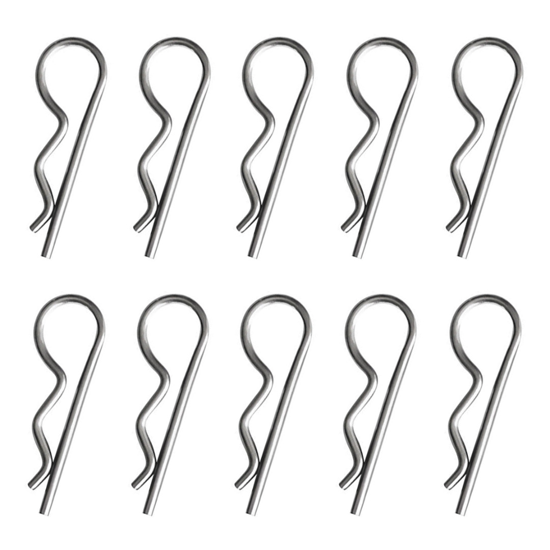 Stainless Steel Opened Clip Wave Axle Split Spring Pin Mayitr 10pcs Spring Splitters Set Spring Pin Securing R Clips