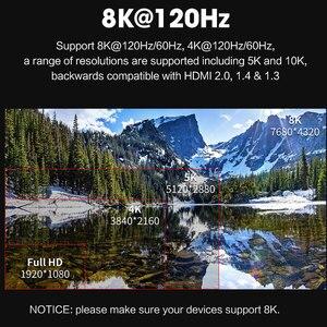 Кабель HDMI 2,1 8K 60Hz 4K 120Hz 48 Гбит/с ARC MOSHOU HDR видео шнур для усилителя ТВ PS4 NS проектор высокое разрешение