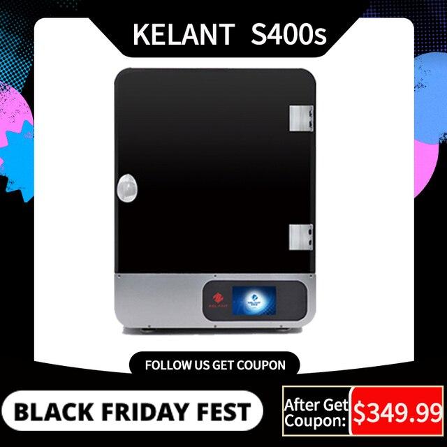 """Kelant S400S LCD DLP 3D מדפסות 8.9 """"2K לייזר 3d מדפסת UV שרף SLA 192*120*200MM 3d הדפסת הדפסת מסכות primpresora diy קיט"""