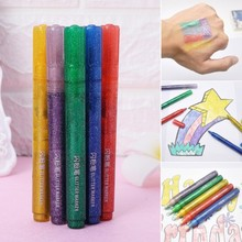 5 шт. Волшебные блестящие маркеры, яркие сверкающие цветные Канцтовары для рисования