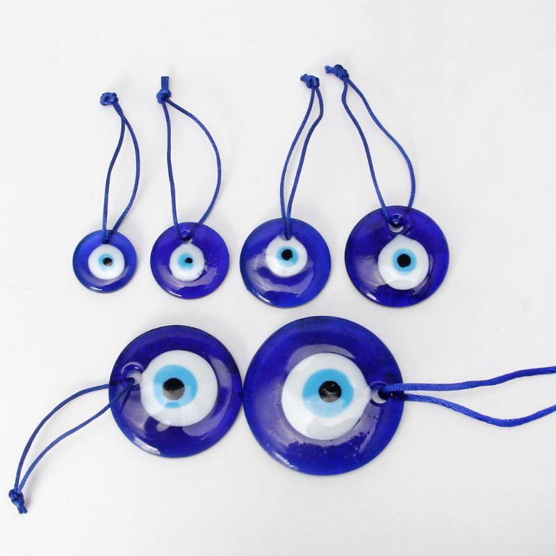 Large Blue Evil Eye Mystic Protection Glass Luck Charm Amulet Turkish 1