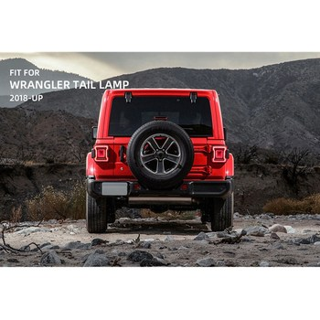 VLAND factory for car Taillight For Wrangler 2018 2019 FULL LED Tail Lamp with DRL+moving signal+Play and Plug